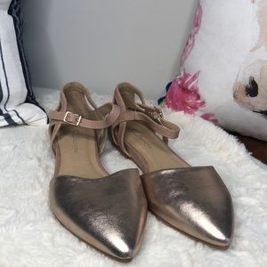 Chinese Laundry Metallic Rose Gold Pointy Flats 8